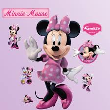 minnie mouse wall decals roselawnlutheran fathead disney minnie mouse wall decal
