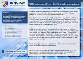 sample scholarship essay questions toefl independent writing task live essay demonstration 1 youtube