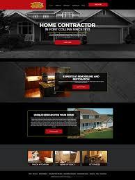 home remodeling website design 10 sweet contractor website design templates marketing 360