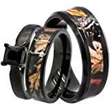 camo wedding rings his and hers camo wedding rings set his and hers 3 rings set sterling silver and