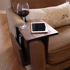 couch arm coffee table simply awesome couch sofa arm rest wrap tray table with side storage