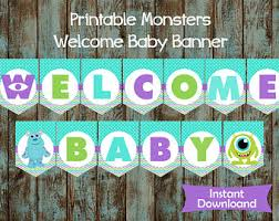 monsters inc baby shower decorations baby shower etsy