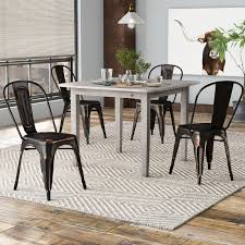 Tolix Dining Chairs Williston Forge Javier Stackable Tolix Dining Chair Reviews