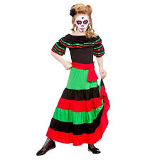 Skeleton Halloween Costume For Kids New Kids Day Of The Dead Mexican Muertos Halloween Skeleton Fancy
