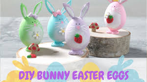 diy bunny easter eggs craft for kids youtube