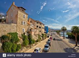split houses on the rock waterfront view in dalmatia croatia