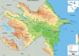 Physical Map Of Europe Rivers by Physical Map Of Azerbaijan Ezilon Maps