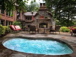 Jacuzzi Spas Outdoors Patio Outdoor Fireplace Tub Jacuzzi Spas Outdoor