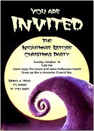 halloween themed birthday invitations birthday invites stylish nightmare before christmas birthday