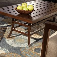 coffee table audrey collection java brown thos baker