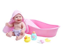 realistic newborn doll bath time set baby doll gift set with alternative views