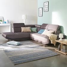 alinéa canapé d angle artic canapé d angle fixe gauche en tissu bicolore gris salon