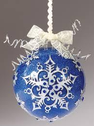 glitter snowflake ball ornament
