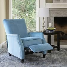 prolounger turquoise velvet push back recliner chair free