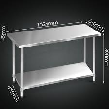 304 430 commercial stainless steel kitchen work bench top food