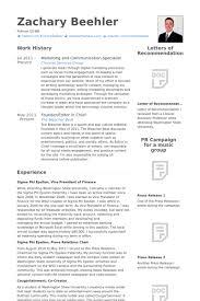Entertainment Resume Template Communication Specialist Resume Samples Visualcv Resume Samples