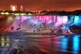 christmas lights in niagara falls ontario niagara falls illuminated at night where ca