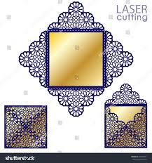 laser cut islamic pattern envelope template stock vector 634492091