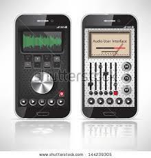 Two Dark Ui - two ui mobile application metal black stock vector hd royalty free