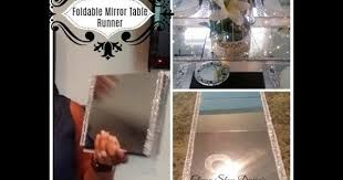 1 diy foldable mirror table runner reflections youtube