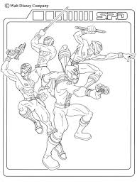 power rangers team coloring tv series coloring sheets