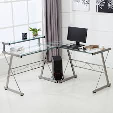 computer in glass desk glass computer table ebay