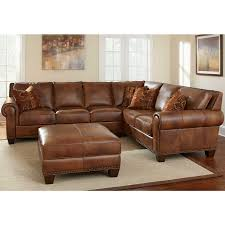 dark brown leather sofa elegant with wooden antique table on