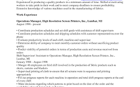 fresh manufacturing resume sample template exciting production