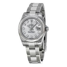 diamond rolex rolex lady datejust 26 mother of pearl dial stainless steel oyster