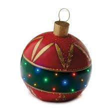 green fiber optic ornament decorating