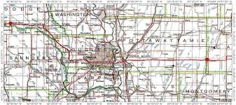 Nauvoo Illinois Map by Morman Trail Migration Route