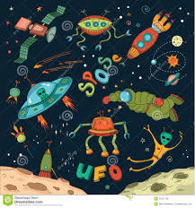 Space Design by Set Of Cute Outer Space Elements Stock Vector Image 64860864