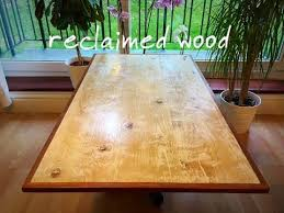 diy rustic reclaimed wood coffee table part 1 making the table