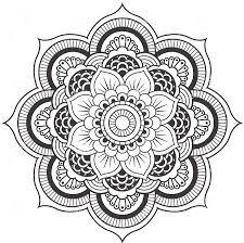 Lotus Flower Mandala Coloring Pages Coloring Pages Pinterest Mandala Flowers Coloring Pages