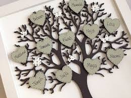 personalised framed wooden family tree by craft heaven