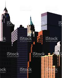 Large Mansions Look Up High Buildings And Large Mansions Stock Vector Art