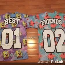 matching tee set spongebob u0026 patrick best friend jersey kiddchief