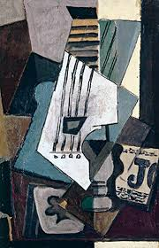 Picasso Still Life With Chair Caning 1912 Picasso Collage Of Still Life With Violin Upside Down Version Of