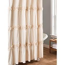 Lush Shower Curtains Lush Decor Darla Shower Curtain 72 By 72 Inch Ivory