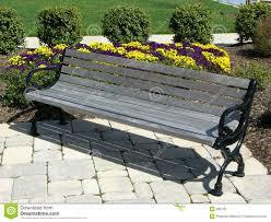 stone park bench stock photo image 52766584