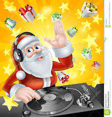 christmas party dj santa stock vector image 55762814