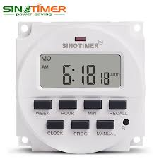 Jual Timer Dc sinotimer 30a load 7 days programmable digital timer switch relay