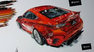 lexus is rocket bunny rocket bunny lexus rc350 car drawing youtube