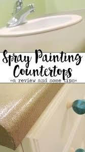 Paint Laminate Kitchen Cabinets by How To Spray Paint Ugly Laminate Countertops Home Makeovers