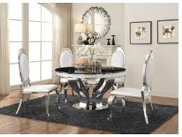 chrome round dining table faux marble chrome round dining table set shop for affordable home