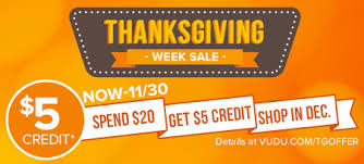 a happy thanksgiving 5 credit offer vudu