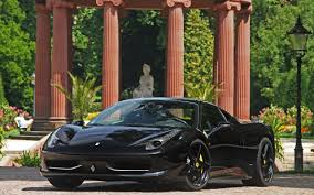 black ferrari wallpaper black ferrari 458 italia widescreen wallpaper wide wallpapers net