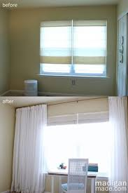 How To Hang A Drapery Rod How To Create An Extra Long Curtain Rod Rosyscription