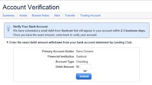 setting up a lending club peer to peer lending account do you