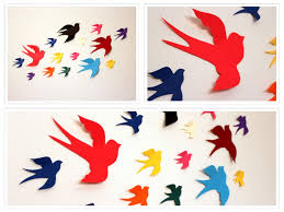 wall decal paper color the walls of your house wall decal paper wall decals nursery paper birds multicolored 3d bird wall